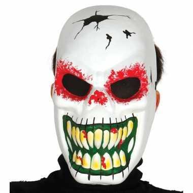 Eng skelet masker voor halloween