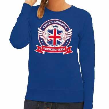 Engeland drinking team sweater blauw dames