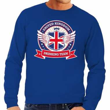 Engeland drinking team sweater blauw heren