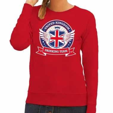 Engeland drinking team sweater rood dames