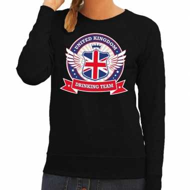 Engeland drinking team sweater zwart dames