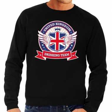 Engeland drinking team sweater zwart heren