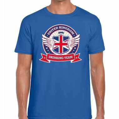 Engeland drinking team t-shirt blauw heren