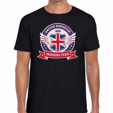 Engeland drinking team t-shirt zwart heren