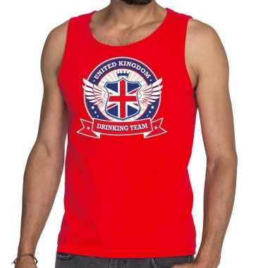 Engeland drinking team tanktop / mouwloos shirt rood heren