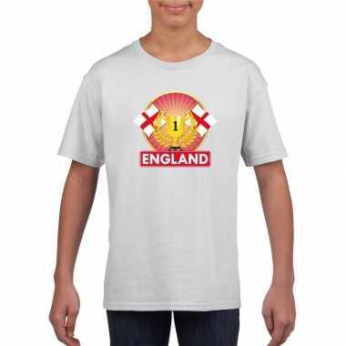 Engeland kampioen shirt wit kinderen