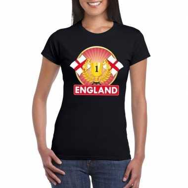 Engeland kampioen shirt zwart dames