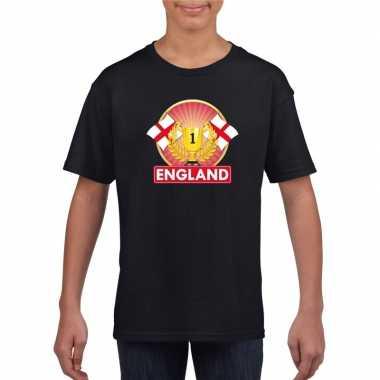 Engeland kampioen shirt zwart kinderen