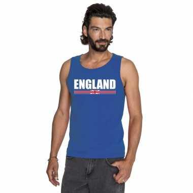 Engeland supporter mouwloos shirt/ tanktop blauw heren