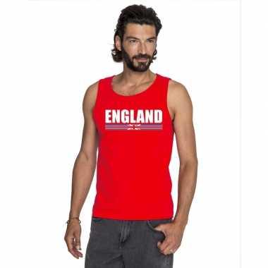 Engeland supporter mouwloos shirt/ tanktop rood heren