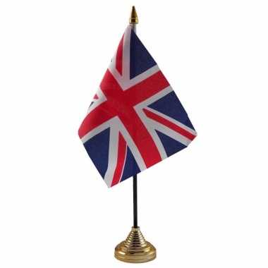 Engeland versiering tafelvlag 10 x 15 cm