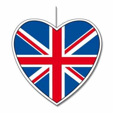 Engels decoratie hart 30 cm