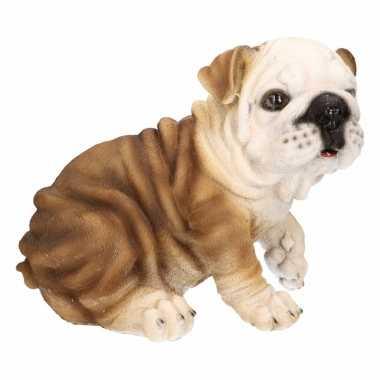 Engelse bulldog tuinbeeldje 18 cm