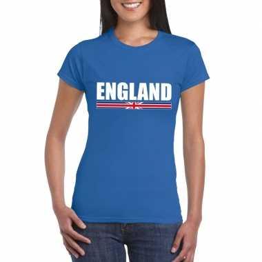 Engelse supporter t-shirt blauw voor dames