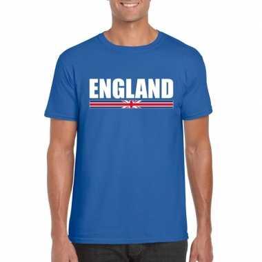 Engelse supporter t-shirt blauw voor heren