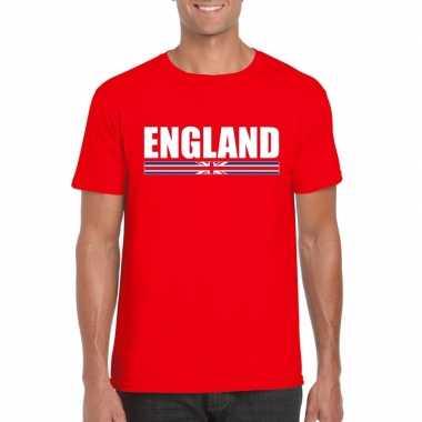 Engelse supporter t-shirt rood voor heren