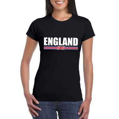 Engelse supporter t-shirt zwart voor dames