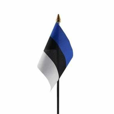 Estland vlaggetje polyester