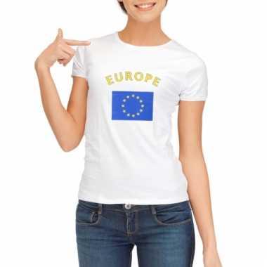 Europese vlag t-shirt voor dames