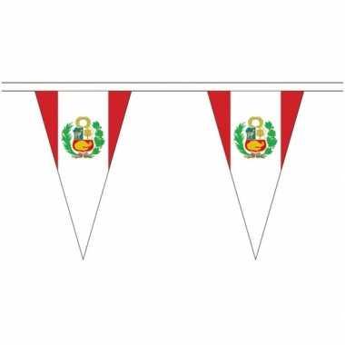 Extra lange peru vlaggenlijnen van 5 meter