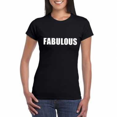Fabulous fun t-shirt zwart voor dames