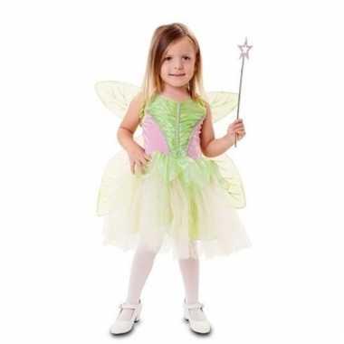 Fee kostuum groen met vleugels voor meisjes