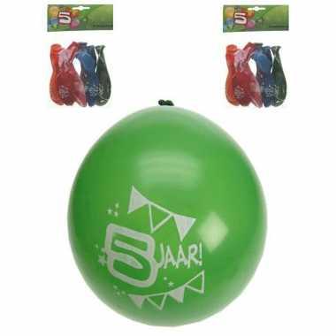Feest ballonnen 5 jaar