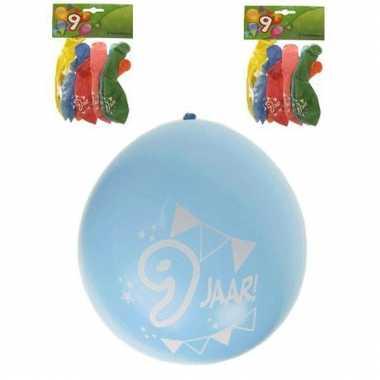 Feest ballonnen 9 jaar