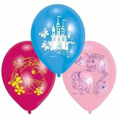 Feest ballonnen eenhoorn 6 stuks