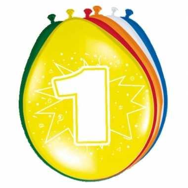 Feest ballonnen met 1 jaar print