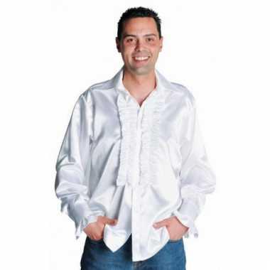 Feest blouse heren wit