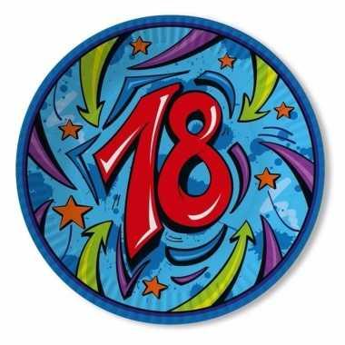 Feest borden 18 jaar blauw
