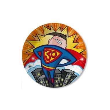 Feest borden 30 jaar superheld