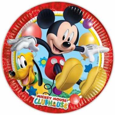 Feest borden mickey mouse 8 stuks