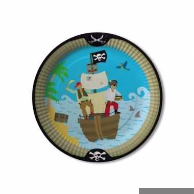 Feest borden piraten thema 8 stuks
