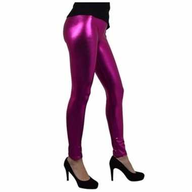 Feest glimmende roze legging voor dames
