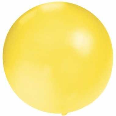 Feest mega ballon geel 60 cm