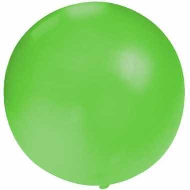 Feest mega ballon groen 60 cm