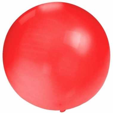 Feest mega ballon rood 60 cm