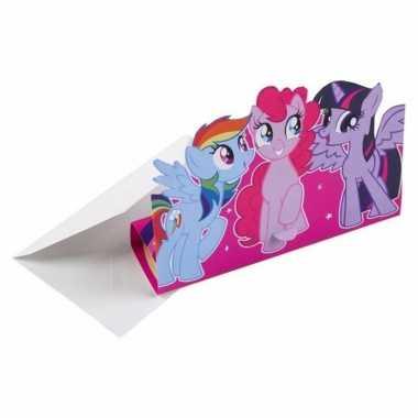 Feest my little pony uitnodigingen met enveloppen