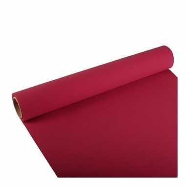 Feest/party bordeaux rode tafeldecoratie papieren tafelloper 300 x 40