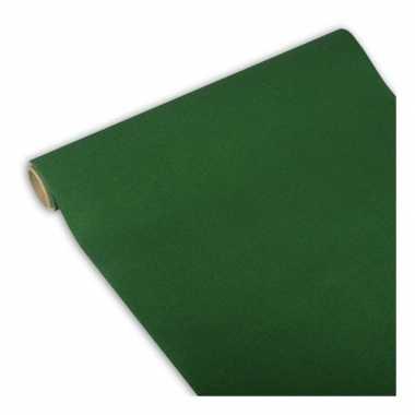 Feest/party donkergroene tafeldecoratie papieren tafelloper 300 x 40