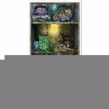 Feest/party griezelige spookhuis koelkasten versiering/decoratie 76 x