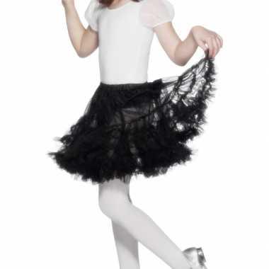 Feest/party heksen rokje/tutu zwart voor meisjes