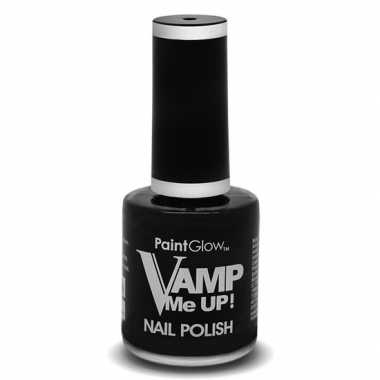 Feest/party nagellak mat zwart 12 ml