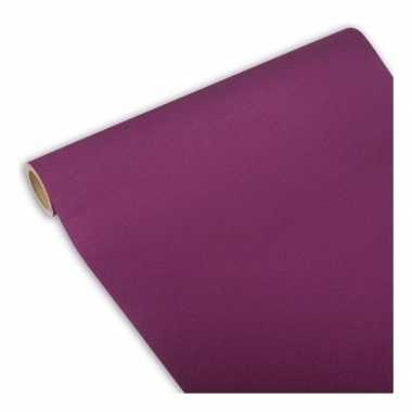 Feest/party paarse tafeldecoratie papieren tafelloper 300 x 40 cm