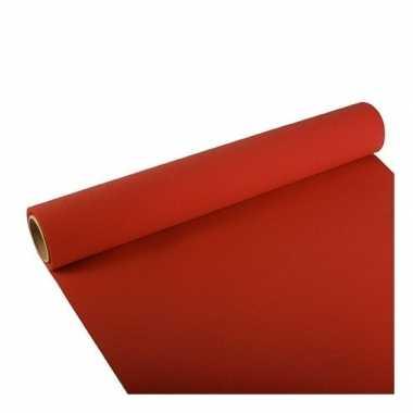 Feest/party rode tafeldecoratie papieren tafelloper 300 x 40 cm