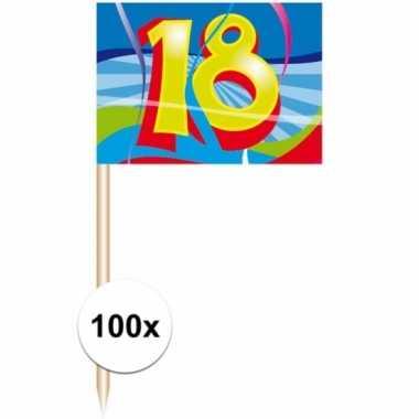 Feest prikkers 18 jaar 100 stuks