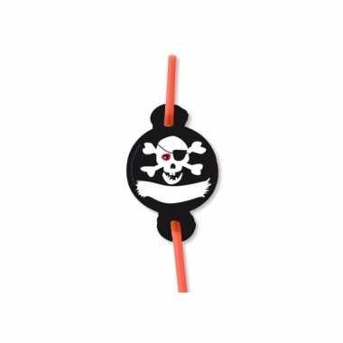 Feest rietjes piraten thema 8 stuks