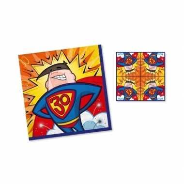 Feest servetten 30 jaar superheld